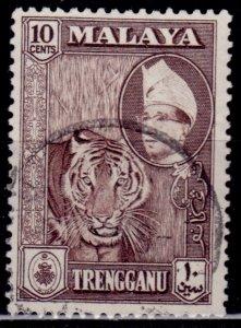 Malaya, Trengganu, 1961, 10c, used