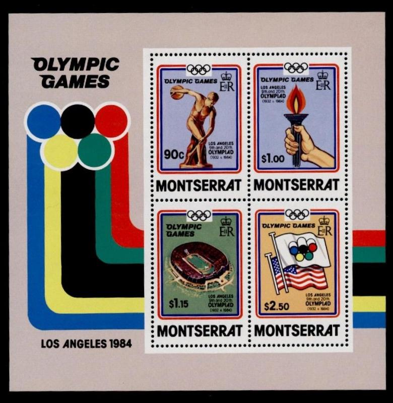 Montserrat 523a MNH Summer Olympics, Sports, Flags, Stadium