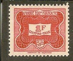 French Equatorial Africa   Scott J15   Unused