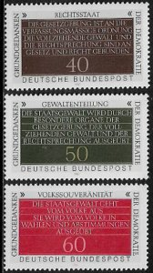 Germany #1358-60 MNH Set - Constitution