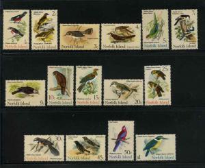 Norfolk Island Scott 126-140! Birds! Complete Set MNH!