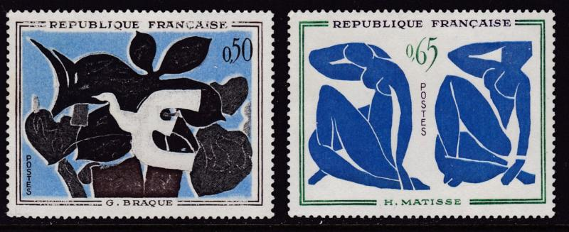 France 1961 ART Paintings Complete (4)  VF/NH(**)
