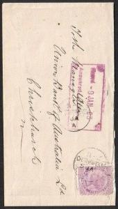NEW ZEALAND 1893 cover ex CHATHAM ISLANDS - 2 strikes of cds...............78551