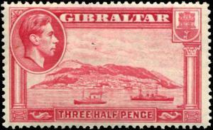Gibraltar SC# 109 SG# 123 Rock of Gibraltar 3-1/2d Perf 14 MH