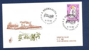 SOMALIA  SOOMAALIYA - # 596 - color cacheted & numbered FDC - Liberation - 1991