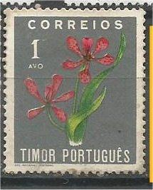 TIMOR, 1950, Mint 1a, Flowers. Scott 260