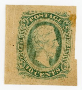 #CSA11 – 1863-64 10c Confederate States - Jefferson Davis Mint NH OG