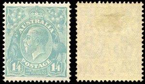 Australia 1928 Scott 76  1sh/4p  Mint Hinged CV $110.00