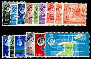 TRINIDAD AND TOBAGO SG284-297, COMPLETE SET, M MINT. Cat £50.