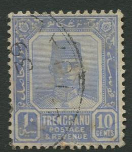 Malaya-Trengganu -Scott 29 - Sultan Badaru l Alam - 1925- Used - Single 1c Stamp