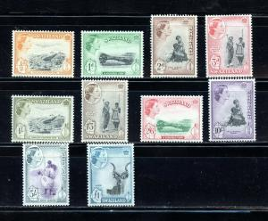 SWAZILAND QE II  SCOTT#55/58 61/65   SG#53/56 59/64   MINT NEVER   HINGED