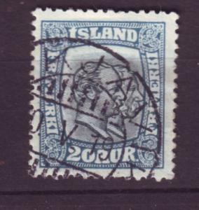 J19121 Jlstamps 1907 iceland used #79 kings
