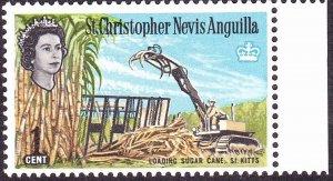 ST CHRISTOPHER NEVIS & ANGUILLA 1963QEII 1c Multicoloured SG130MH