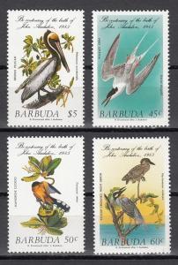 Barbuda, Scott cat. 701-704. Audubon Birds issue.