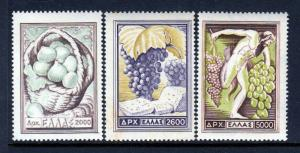 Greece #553//555 BAKKUS Wine and Grapes - NICE (Mint NEVER HINGED) cv$88.00