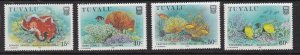 TUVALU  ^^^^  OLDER  # 465-468  MNH set  ( SEALIFE TOPICAL ++) $$ @lar1946tuva