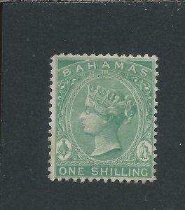 BAHAMAS 1882-98 1s GREEN MM SG 44 CAT £50