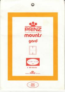 PRINZ BLACK MOUNTS 129X122 (8) RETAIL PRICE $10.50