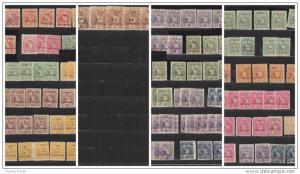 O) 1898 GUATEMALA, LOT WITH VARIETY, ERRORS,MIRROR PRINTINGS
