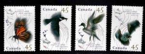 Canada Scott 1563-1566 MNH** Fauna stamp set