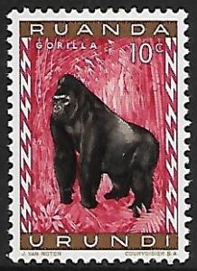 Ruanda Urundi # 137 - Gorilla - MLH