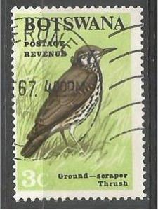 BOTSWANA, 1967, used 3c, Birds, Scott 21