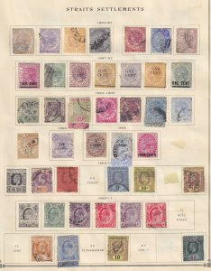 STRAITS SETTLEMENTS  INTERESTING COLLECTION ON ALBUM PAGES - Y503