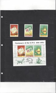 Barbuda 167-9a MNH Centenary of the UPU 1974