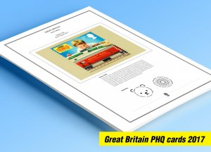 COLOR PRINTED GREAT BRITAIN 2017 PHQ CARDS STAMP ALBUM PAGES (123 illust. pages)
