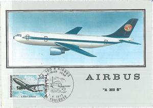 AVIATION -  MAXIMUM CARD  - FRANCE 1973