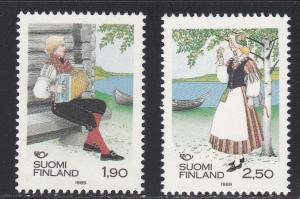 Finland # 797-798, Folk Costumes, NH, 1/2 Cat.