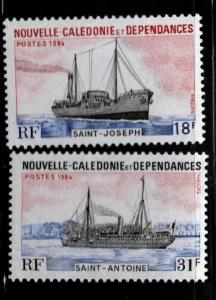 New Caledonia (NCE) Scott 498-499 MNH** Steamers ship stamp set