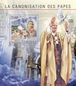 TOGO 2014 SHEET POPE JOHN PAUL II tg14604b