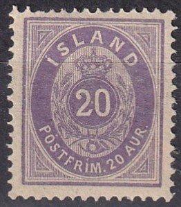 Iceland #13 F-VF Unused CV $35.00 (Z6416)