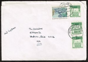 Germany #1003 and (3) #939 on cover; Munich to Hudson OH (3Stars)