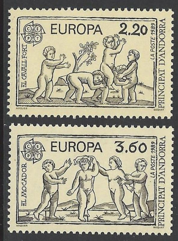 Andorra French 1989 Europa VF MNH (372-3)