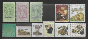 Macau 417, C21 all cpl MNH issues and more, see desc. 2020 CV $60.85