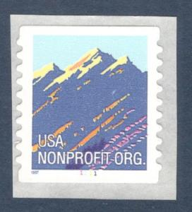 2904B Mountain Nonprofit Single With Plate Number Mint/nh (Free Shipping)