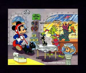 REDONDA - 1990 - DISNEY - SPACE - MOONWALK - MICKEY - LUNAR PET SHOP - MINT S/S!