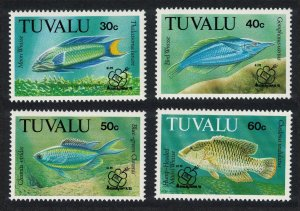 Tuvalu Fish 4v 'Kuala Lumpur '92' Philatelic Exhibition 1992 MNH SG#656-659