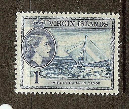 British Virgin Islands, Scott #116, 1c Queen Elizabeth II, MNH