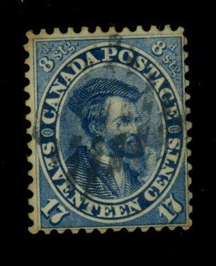 Canada #19 Used F-VF Minor staining Cat$190