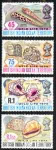 British Indian Ocean Territory Sc# 59-62 MNH 1974 Sea Shells