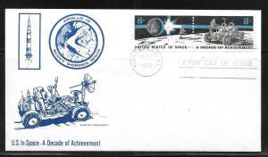 United States 1434-35 Apollo 15 Space City First Day Cover FDC (z2) Huntsvile FD