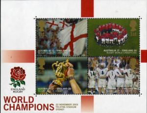 GREAT BRITAIN 2171 MNH S/S SCV $12.00 BIN $7.25 ENGLAND RUGBY