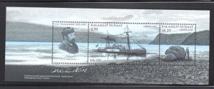 Greenland Sc 528a 2008 Nordenskold Explorer stamp sheet mint NH