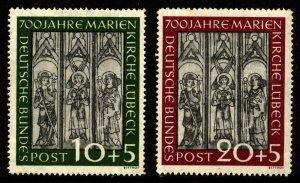 Germany Scott B316-317 Mint NH Minor vertical Gum bend $180.00