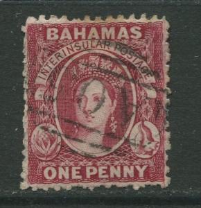 STAMP STATION PERTH Bahamas #11e QV Definitive Wmk.1 Perf.12.1/2  Used