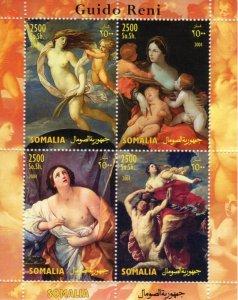 Somalia 2004 GUIDO RENI Nudes Paintings Sheet (4) Perforated Mint (NH)