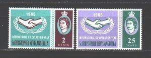 Anguilla. 1965. 158-59. International Year of Cooperation. MNH.